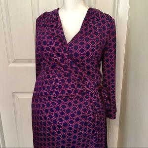 MOTHERHOOD MATERNITY Geometric Faux Wrap Dress